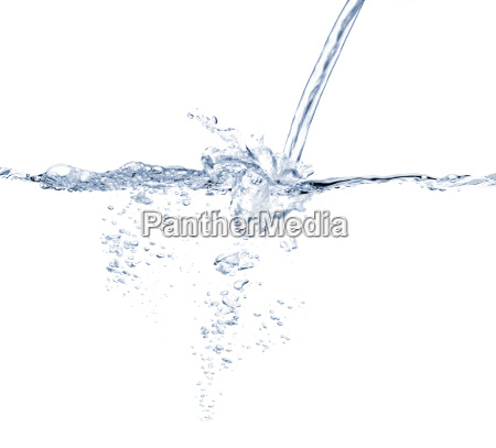 water jet splashing against white background