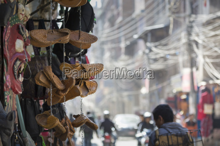 traditional nepali hempen shoes and vest