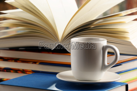 composition, with, books, and, cup, of - 21328924