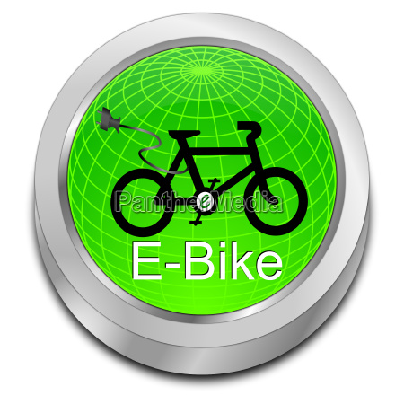 glossy green e bike button