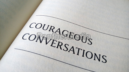 courageous conversation printed on a book