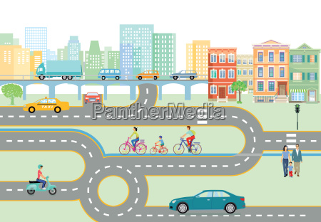 commune with road traffic and transport