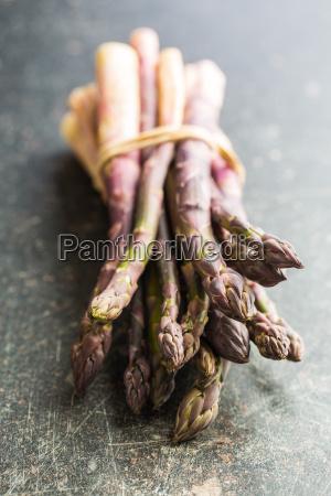 fresh purple asparagus