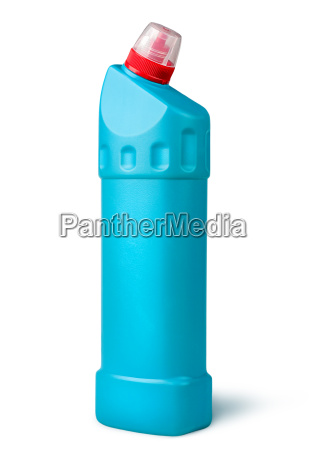 disinfectant in a plastic bottle rotated