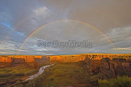 double rainbow at sunset