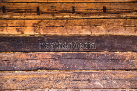 wooden wall of old house of