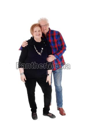 lovely senior couple standing