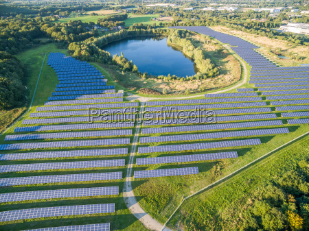 aerial view of photovoltaic power plant