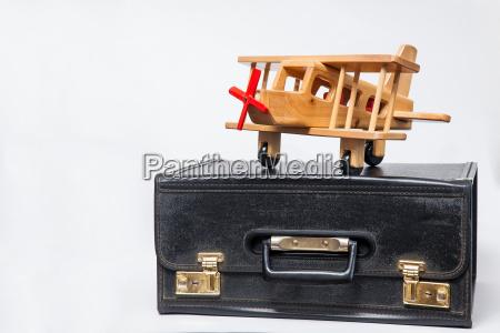 travel concept retro style suitcase