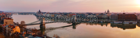 panoramic overview of budapest with the
