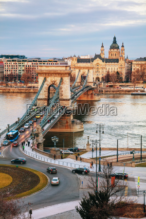 overview of budapest at sunrise