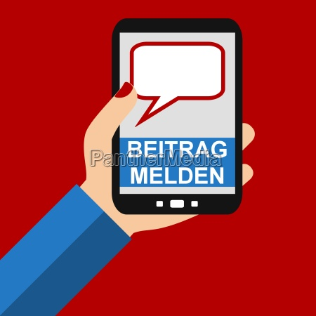 report post with your smartphone