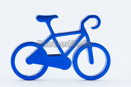 blue toy bicycle isolated