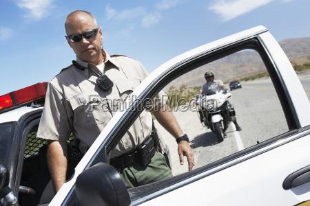 48 portrait of mature police man