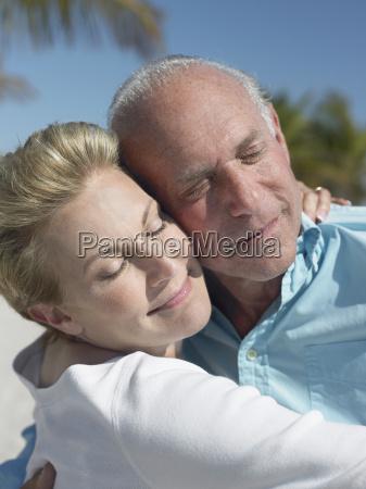 senior couple lost in love