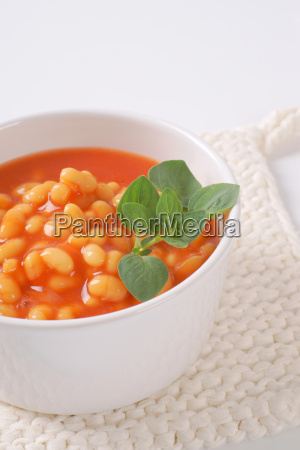bowl of beans in tomato