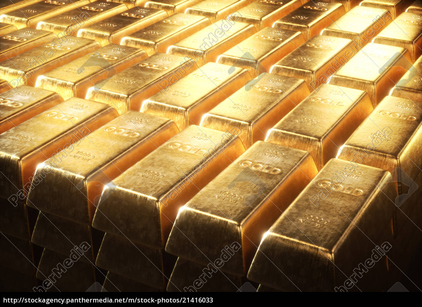 1000 Gram Gold Bars Stock Photo 21416033 Panthermedia Stock Agency