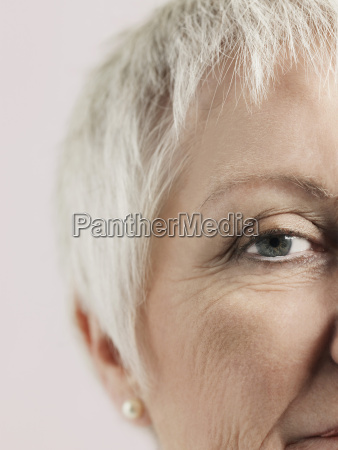 cropped image of senior woman