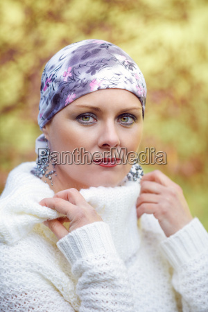 beautiful middle age woman cancer patient