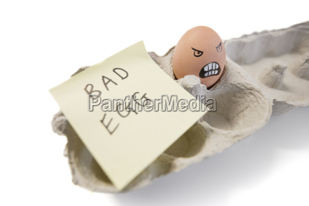 one bad egg with a face