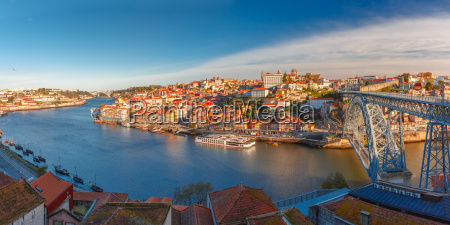 old town and douro river in