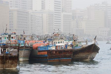 dubai uae dhows old wooden sailing
