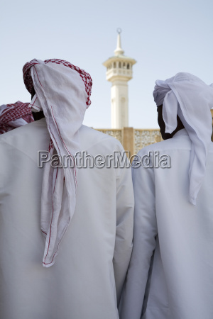 uae dubai group of traditionally dressed