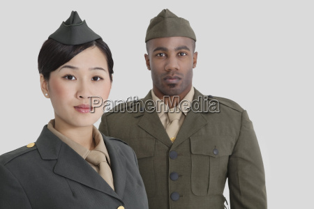 portrait of young us military officers