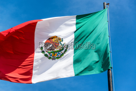 mexican flag closeup