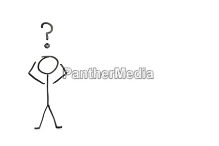 stick figure with question mark depicting