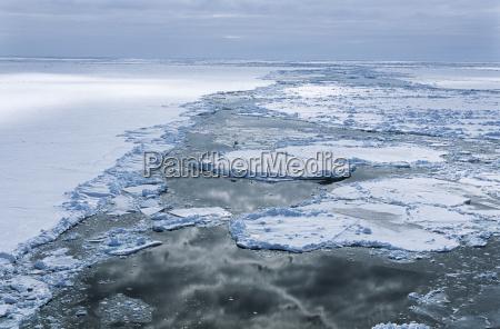 antarctica weddell sea ice floe clouds