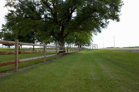 fence along field in st louis