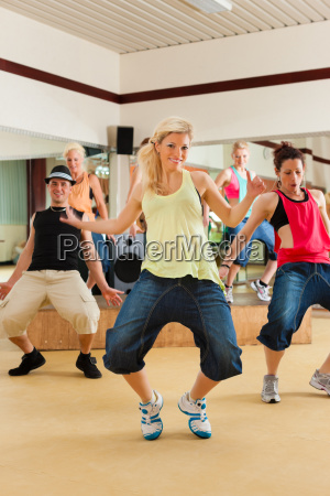 zumba or jazzdance young people