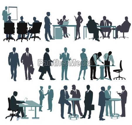 set of business people in the