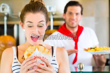 kebab customer and hot doner