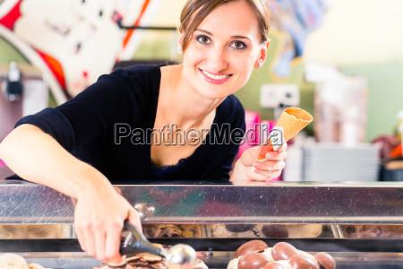 sales girl portion s scoop