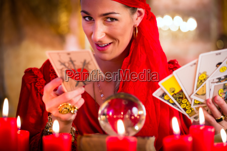 soothsayer in seance or session with