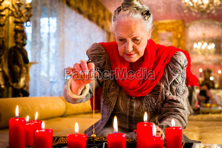 soothsayer during a seance or session