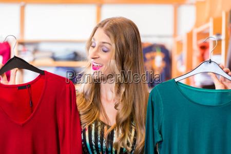 woman shopping in fashion shop