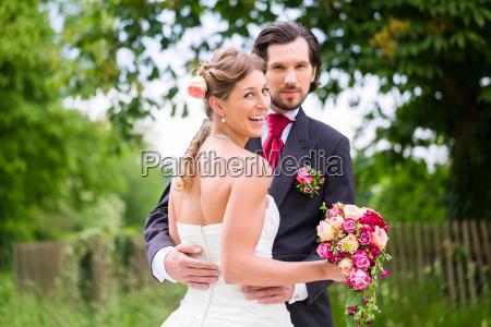 wedding bride and groom with bridal