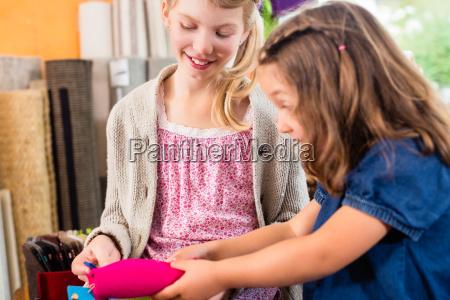 kids buying supplies in handicraft