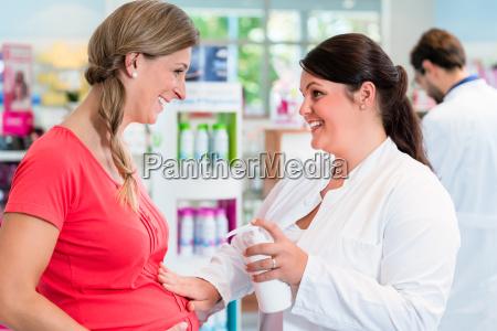 customer shopping in pharmacy or drug