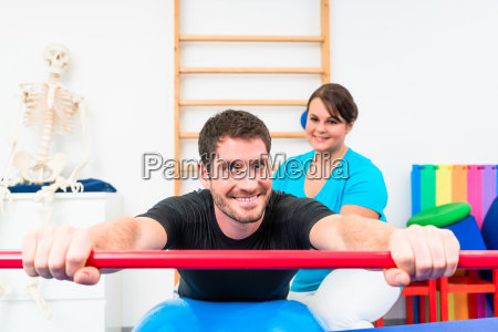 young man working out in physical
