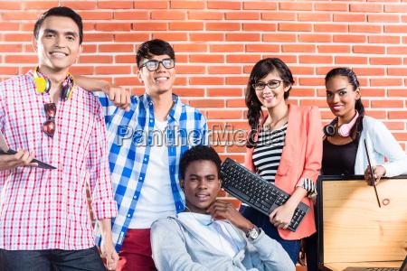 start up business international teamwork