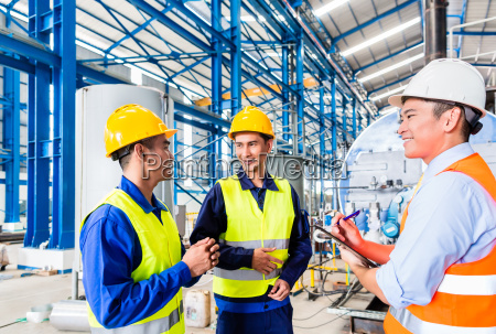 asian factory worker and engineer as