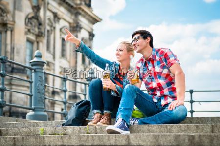 berliner touristen geniessen blick von der
