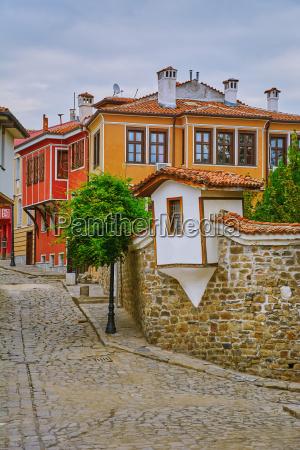 street of old plovdiv