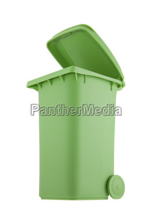 green, recycle, bin, isolated, on, white - 21523895