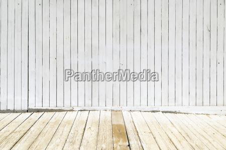 old white wood panels