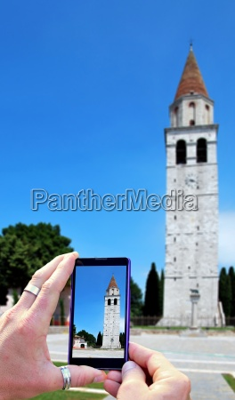 taking photo in aquileia